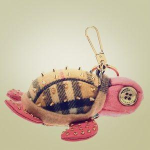 Burberry Turtle Pink Cashmere KeyRing / Bag Charm